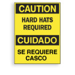 Sign Hard Hats Required