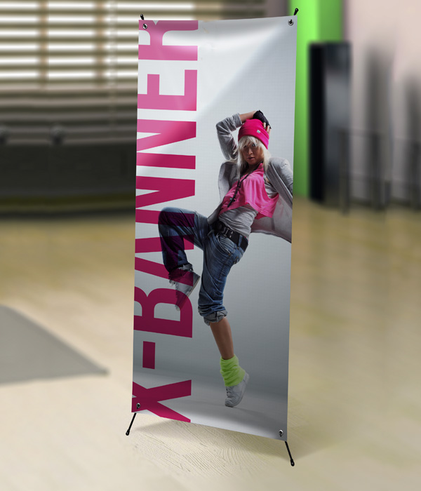 X Frame Banner & Stand 24″x63″